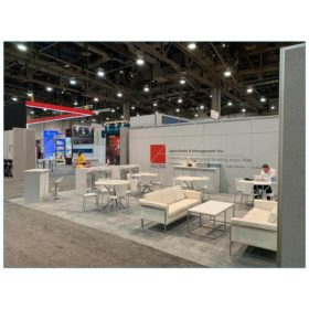20x30 Trade Show Booth Rental Package 502 - Agora Rear View - LV Exhibit Rentals in Las Vegas
