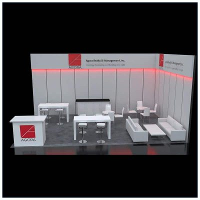 20x30 Trade Show Booth Rental Package 502 - Front - LV Exhibit Rentals in Las Vegas