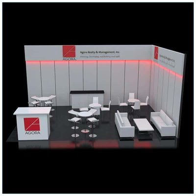 20x30 Trade Show Booth Rental Package 502 - LV Exhibit Rentals in Las Vegas