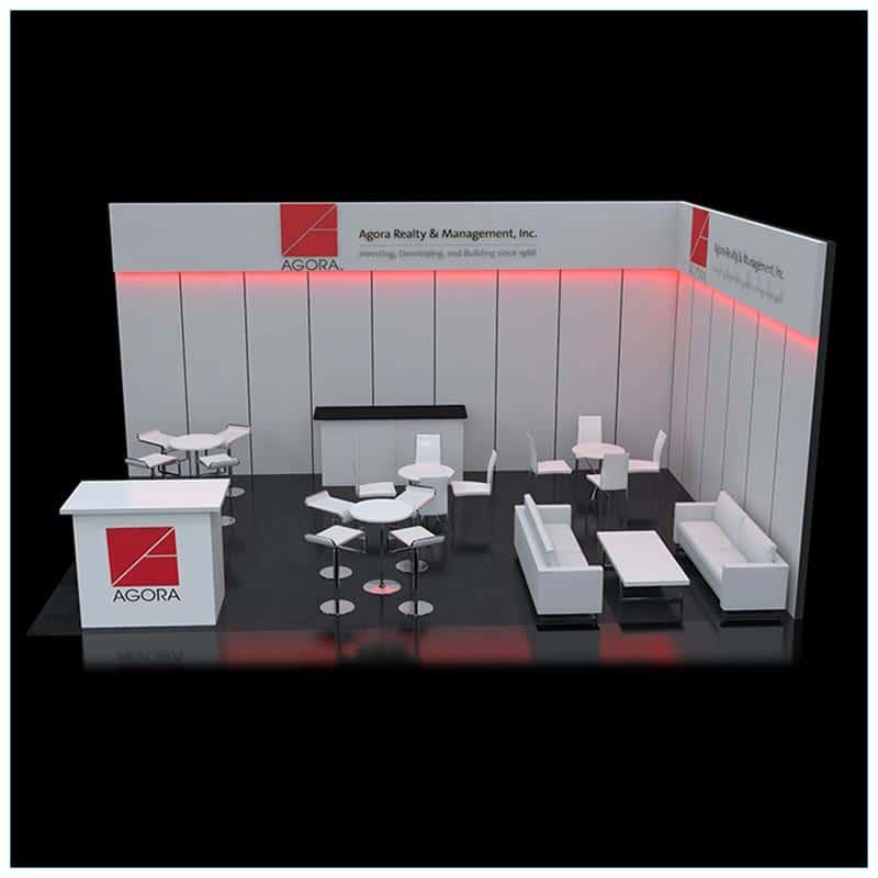 20x30 Trade Show Booth Rental Package 502 - LV Exhibit Rentals in Las Vegas