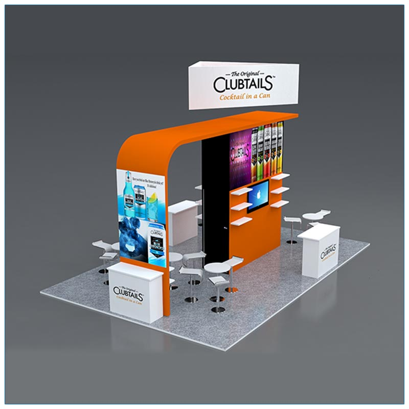 20x30 Trade Show Booth Rental Package 503 - Angle - LV Exhibit Rentals in Las Vegas