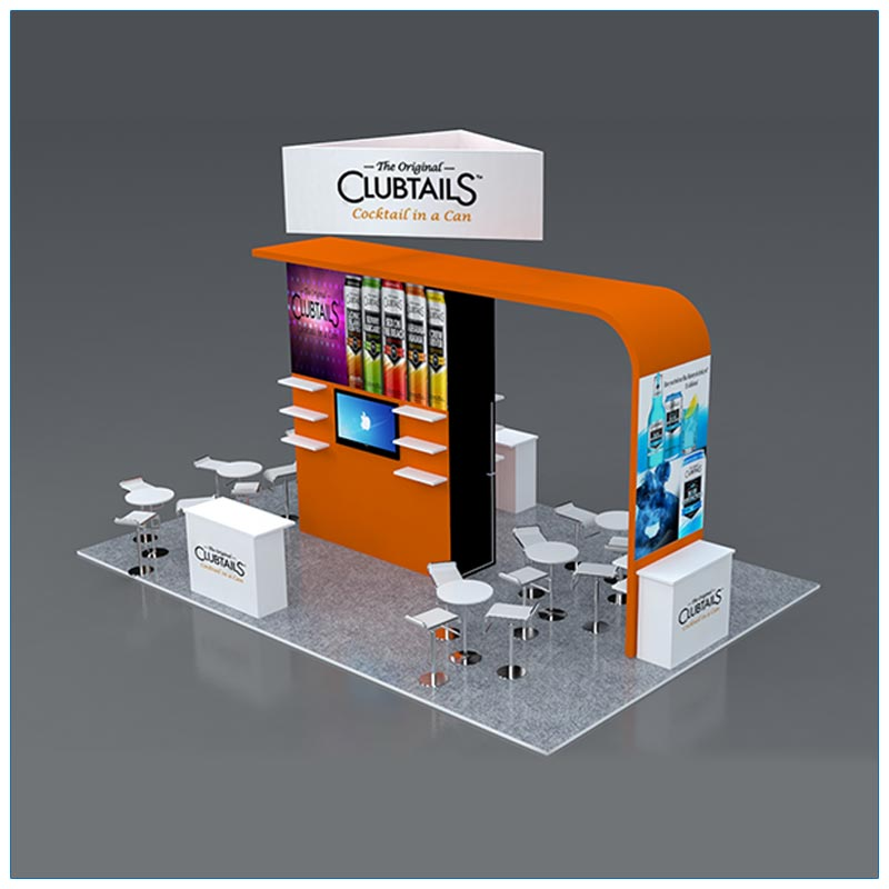 20x30 Trade Show Booth Rental Package 503 - Angle2 - LV Exhibit Rentals in Las Vegas
