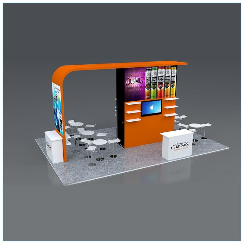 20x30 Trade Show Booth Rental Package 503 - Front - LV Exhibit Rentals in Las Vegas