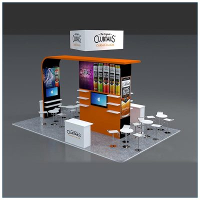 20x30 Trade Show Booth Rental Package 503 - LV Exhibit Rentals in Las Vegas