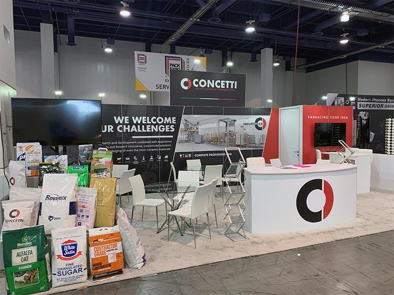 Curved Trade Show Counter Rental - LV Exhibit Rentals in Las Vegas