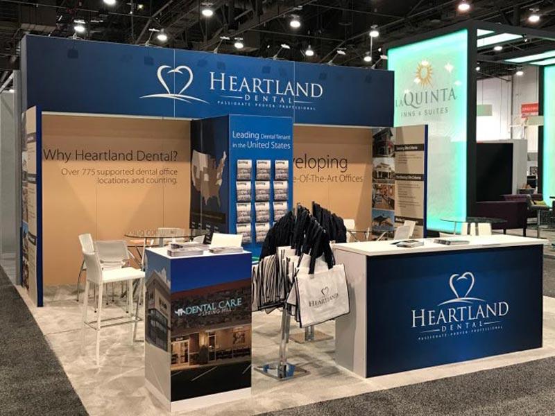 Large Rectangular Trade Show Counter Rental - LV Exhibit Rentals in Las Vegas