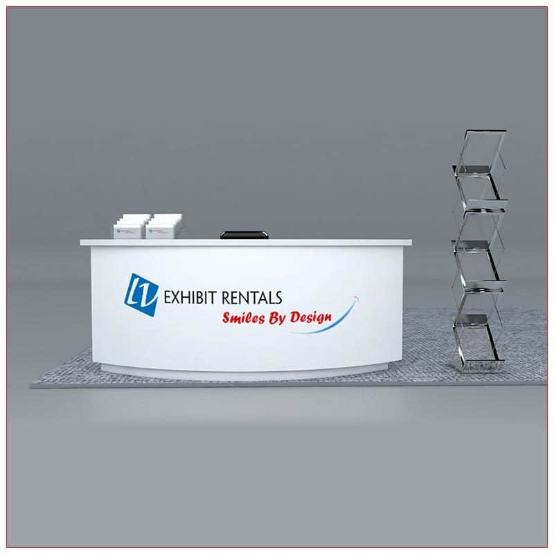 Trade Show Counter Rental Package C1 - Curved Reception Counter - LV Exhibit Rentals in Las Vegas