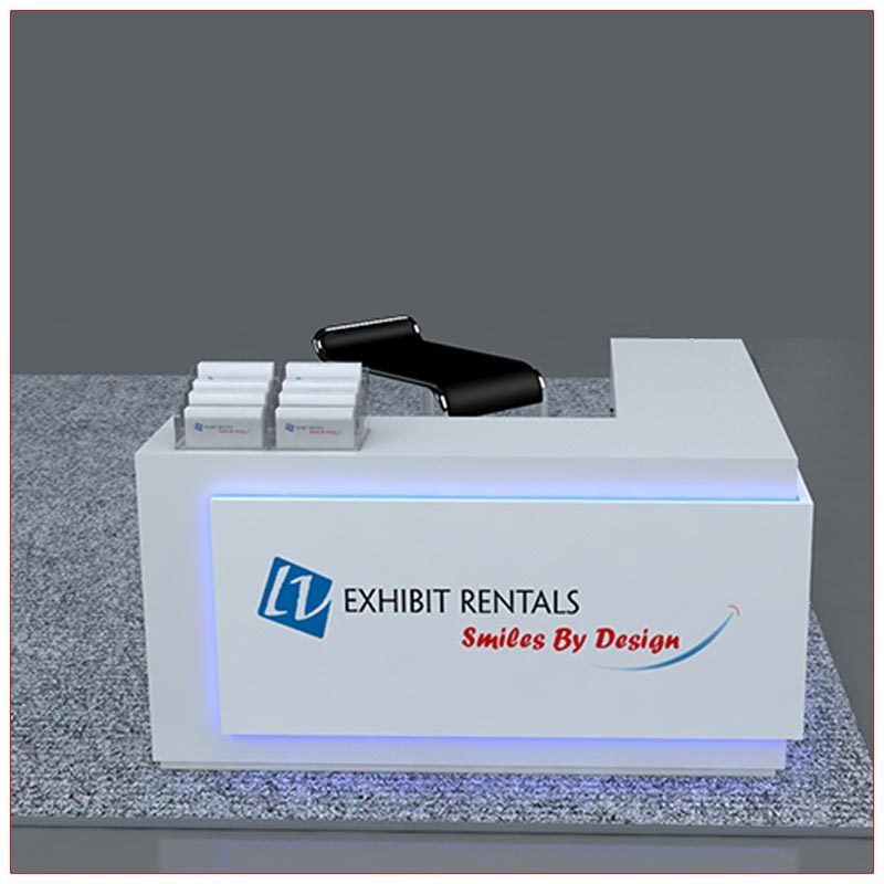 Trade Show Counter Rental Package C2 - L-Shaped Reception Counter - Side 2 - LV Exhibit Rentals in Las Vegas