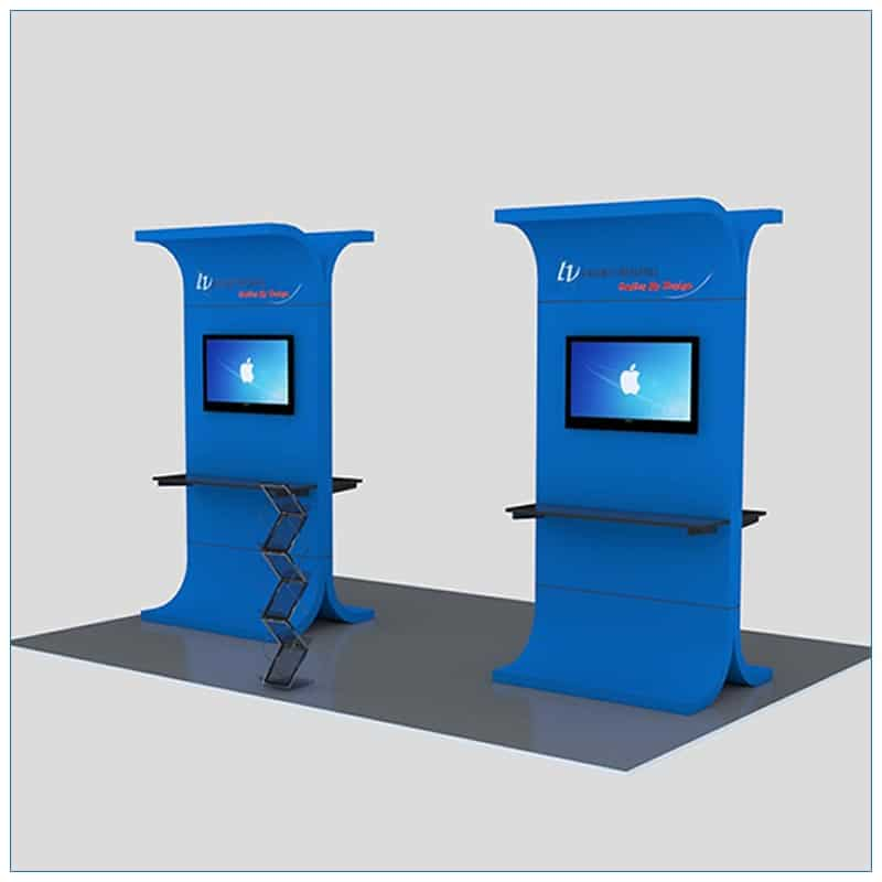 Trade Show Kiosk Rental Package K1 - Angle View - LV Exhibit Rentals in Las Vegas