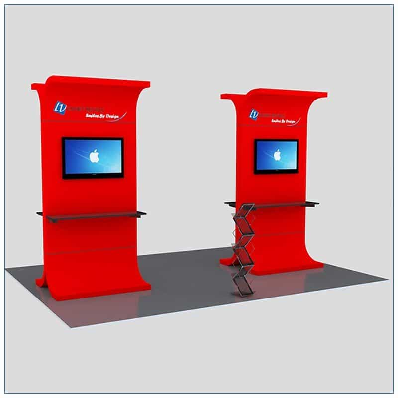 Trade Show Kiosk Rental Package K1 - Front Angle View - LV Exhibit Rentals in Las Vegas