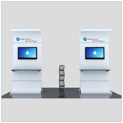 Trade Show Kiosk Rental Package K1 - Front View - LV Exhibit Rentals in Las Vegas