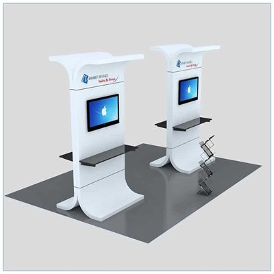Trade Show Kiosk Rental Package K1 - LV Exhibit Rentals in Las Vegas