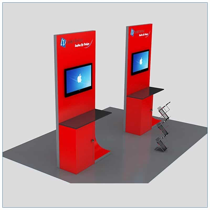 Trade Show Kiosk Rental Package K2 - Angle View - LV Exhibit Rentals in Las Vegas
