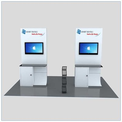 Trade Show Kiosk Rental Package K2 - Front View - LV Exhibit Rentals in Las Vegas