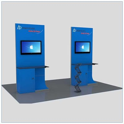 Trade Show Kiosk Rental Package K2 - LV Exhibit Rentals in Las Vegas