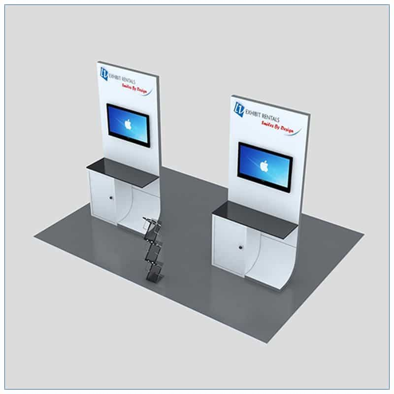 Trade Show Kiosk Rental Package K2 - Top-Down View - LV Exhibit Rentals in Las Vegas