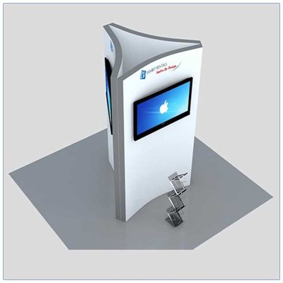 Trade Show Kiosk Rental Package K3 - Angle View - LV Exhibit Rentals in Las Vegas