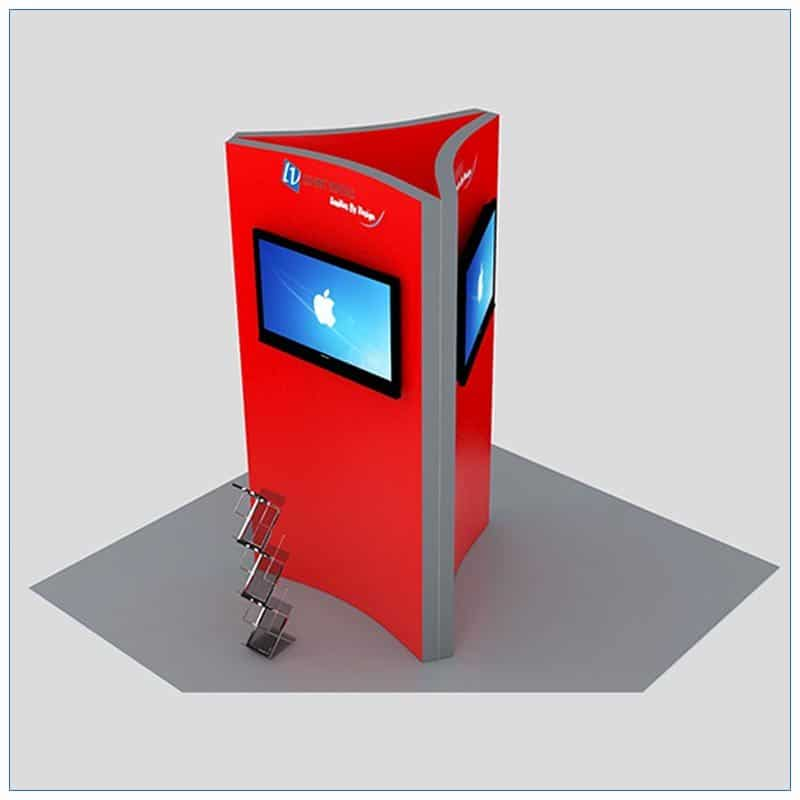 Trade Show Kiosk Rental Package K3 - Angle View2 - LV Exhibit Rentals in Las Vegas