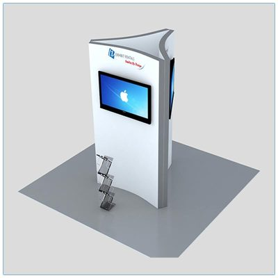 Trade Show Kiosk Rental Package K3 - Front Angle View - LV Exhibit Rentals in Las Vegas