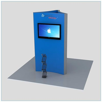 Trade Show Kiosk Rental Package K3 - Front View - LV Exhibit Rentals in Las Vegas