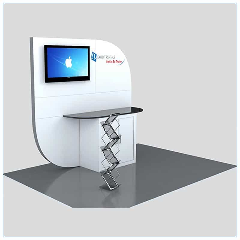 Trade Show Kiosk Rental Package K4 - Angle View - LV Exhibit Rentals in Las Vegas