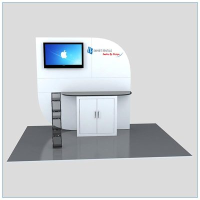 Trade Show Kiosk Rental Package K4 - Front View - LV Exhibit Rentals in Las Vegas