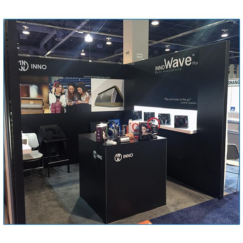 10x10 Trade Show Booth Rental Package 123 Inno Design - LV Exhibit Rentals in Las Vegas