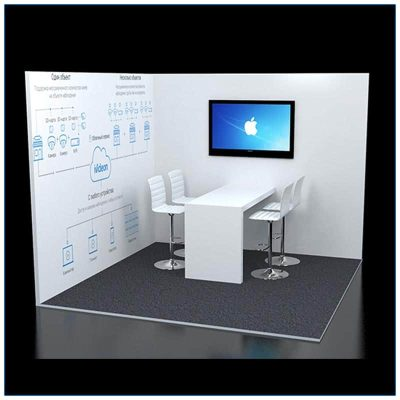 10x10 Trade Show Corner Booth Rental Package 124 - LV Exhibit Rentals in Las Vegas