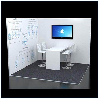 10x10 Trade Show Corner Booth Rental Package 124 - LV Exhibit Rentals in Las Vegas
