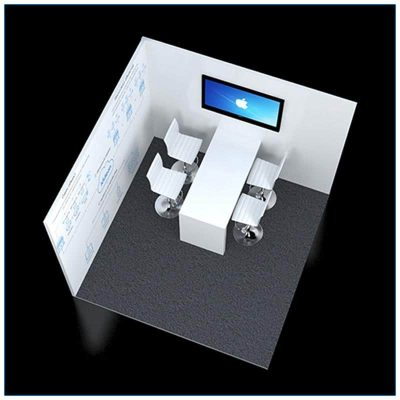 10x10 Trade Show Corner Booth Rental Package 124 - Top Down View - LV Exhibit Rentals in Las Vegas