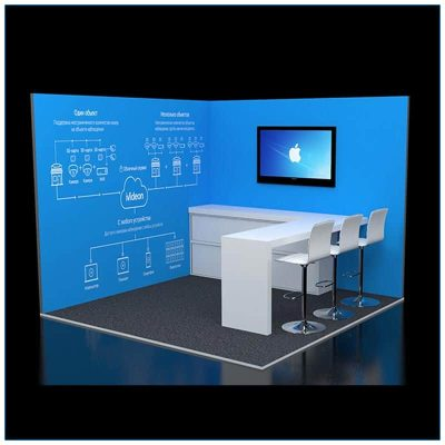 10x10 Trade Show Corner Booth Rental Package 124 Variation - LV Exhibit Rentals in Las Vegas