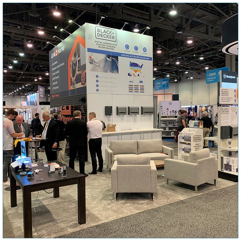 20x30 Trade Show Booth Rental Package 504 - LV Exhibit Rentals in Las Vegas