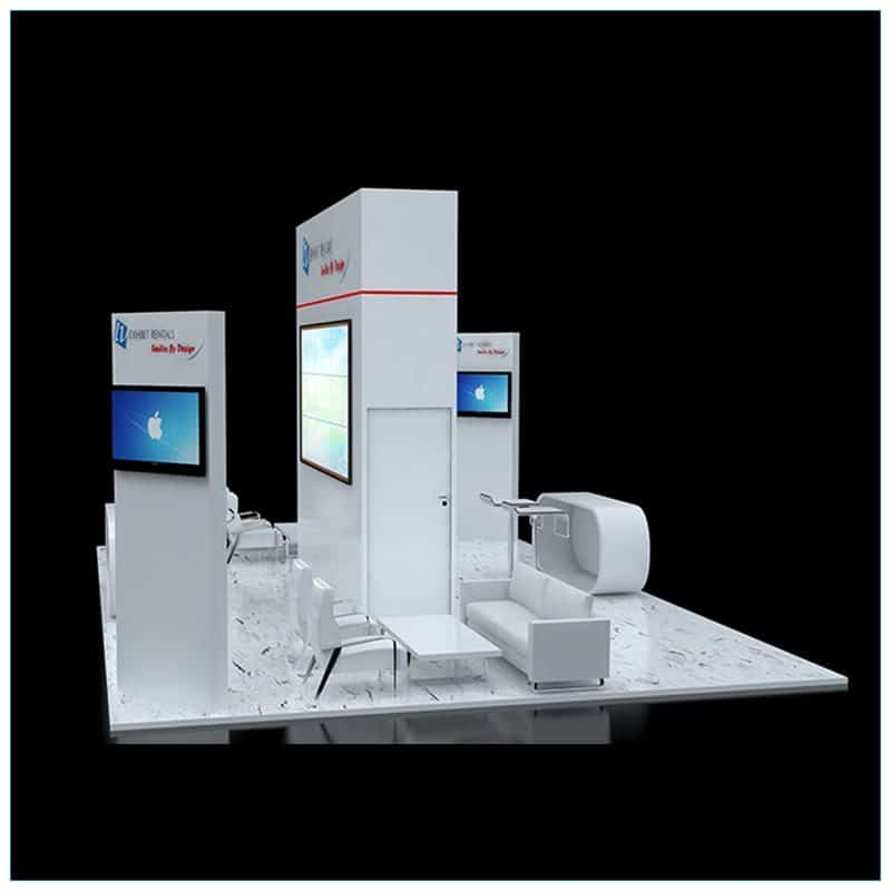 20x30 Trade Show Booth Rental Package 505 - Side View - LV Exhibit Rentals in Las Vegas