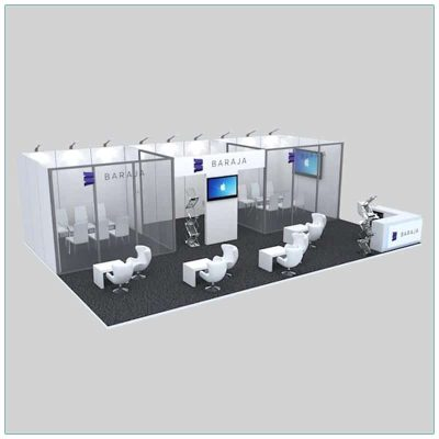 20x30 Trade Show Booth Rental Package 506 - LV Exhibit Rentals in Las Vegas