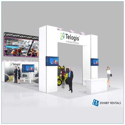 20x40 Trade Show Booth Rental Package 501 - LV Exhibit Rentals in Las Vegas