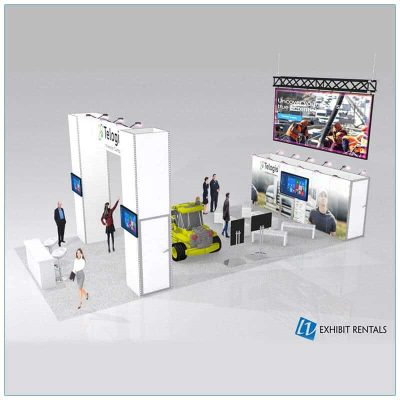 20x40 Trade Show Booth Rental Package 501 - Side- LV Exhibit Rentals in Las Vegas