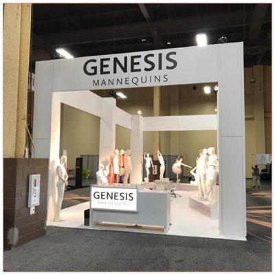 20x40 Trade Show Exhibit Rental Package - LV Exhibit Rentals in Las Vegas