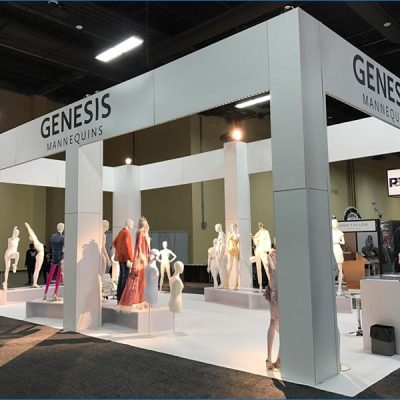 20x40 Trade Show Exhibit Rental Package - Side View - LV Exhibit Rentals in Las Vegas