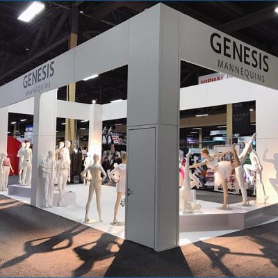 20x40 Trade Show Exhibit Rental Package - Side View2 - LV Exhibit Rentals in Las Vegas