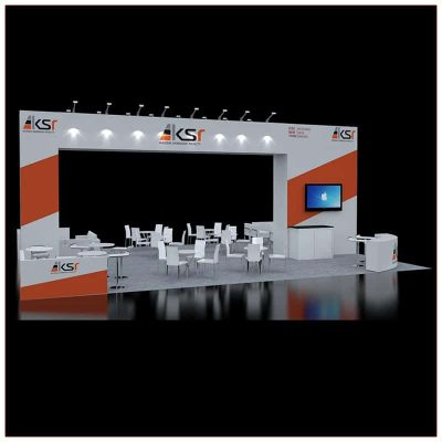 30x40 Trade Show Booth Rental - LV Exhibit Rentals in Las Vegas