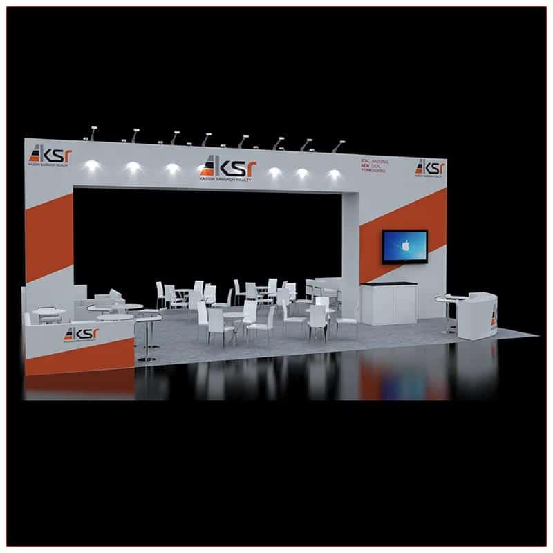 30x40 Trade Show Booth Rental - LV Exhibit Rentals in Las Vegas