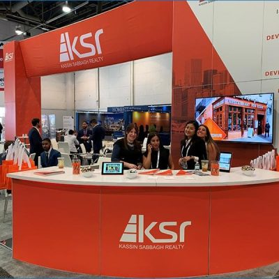 30x40 Trade Show Booth Rental Package - KSR Recon 2019 - Smiles by Design - LV Exhibit Rentals in Las Vegas