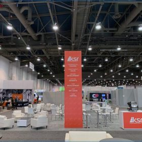 30x40 Trade Show Booth Rental Package - Side View - LV Exhibit Rentals in Las Vegas