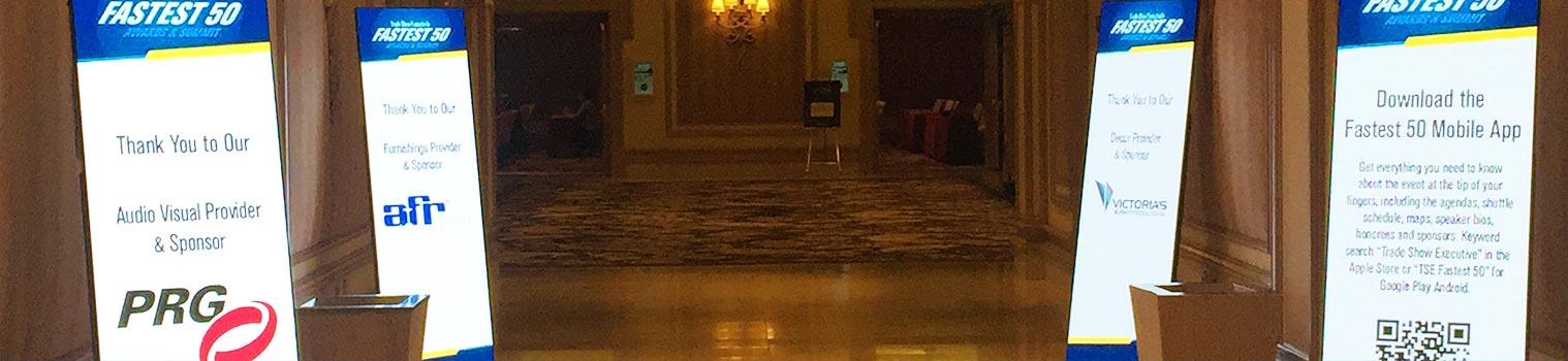 Digital Signage Display Rentals - LV Exhibit Rentals in Las Vegas