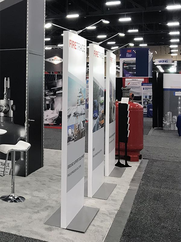 Freestanding Kiosk Rentals for Trade Shows - Angle View - LV Exhibit Rentals in Las Vegas