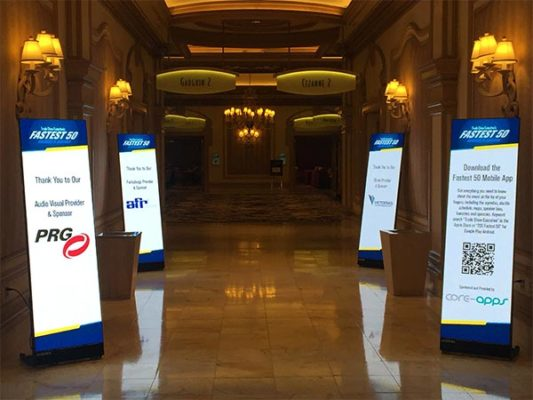 LED Poster Rental - Close Up View - LV Exhibit Rentals in Las Vegas