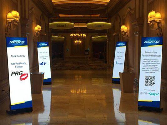 LED Poster Rental - Close Up View - LV Exhibit Rentals in Las Vegas