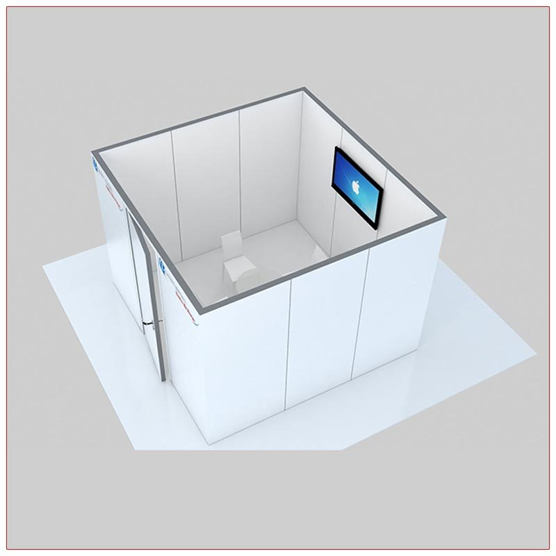 Trade Show Conference Room Rental Package C1 - Side View - LV Exhibit Rentals in Las Vegas