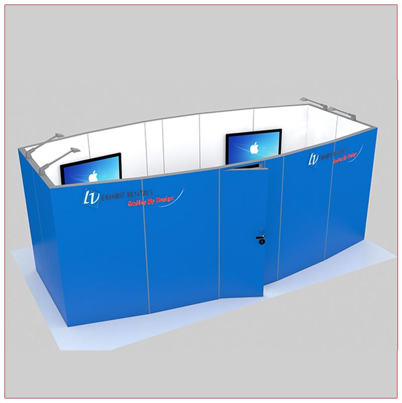 Trade Show Conference Room Rental Package C4 - Angle View - LV Exhibit Rentals in Las Vegas