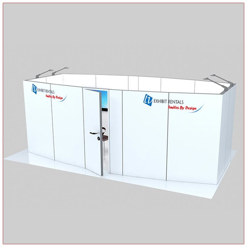 Trade Show Conference Room Rental Package C4 - Front Angle View - LV Exhibit Rentals in Las Vegas
